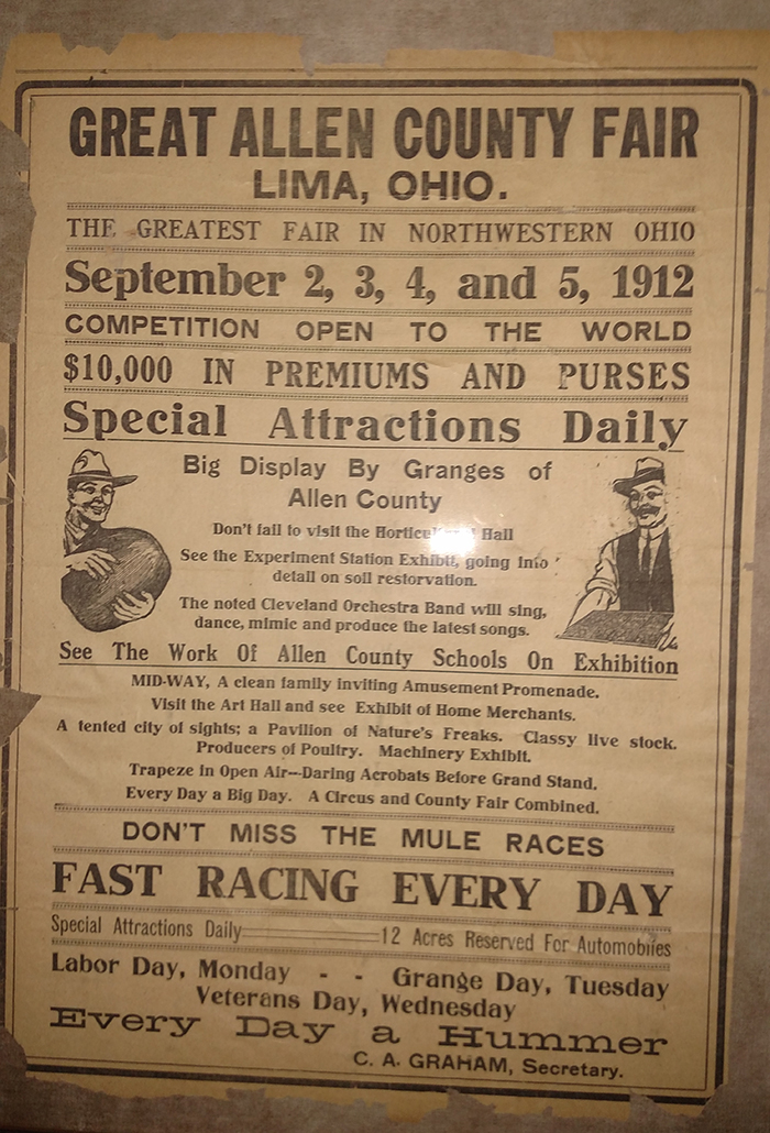 Allen County Fair Historical Poster