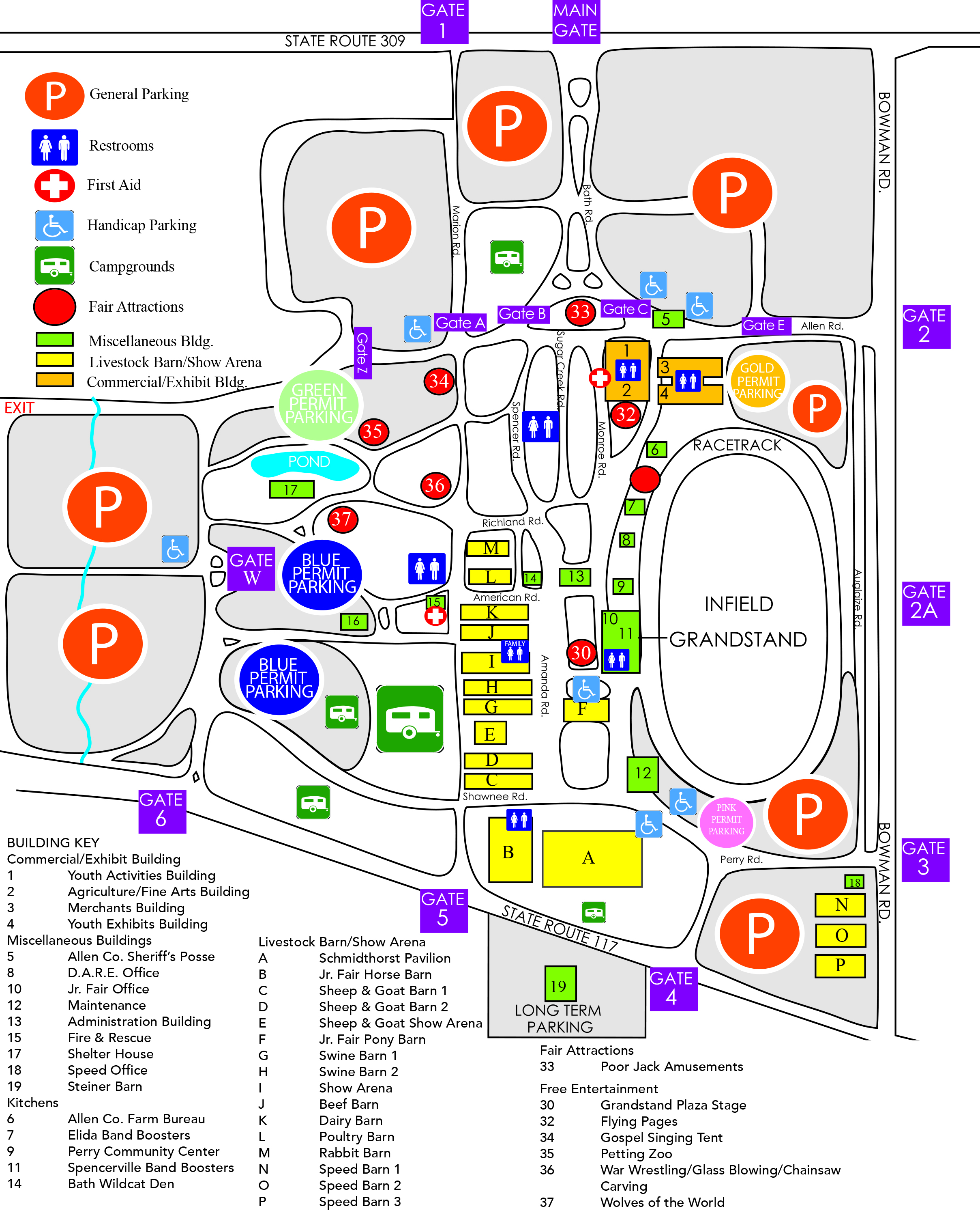 Map Of The Fairgrounds Allen County Fairgrounds